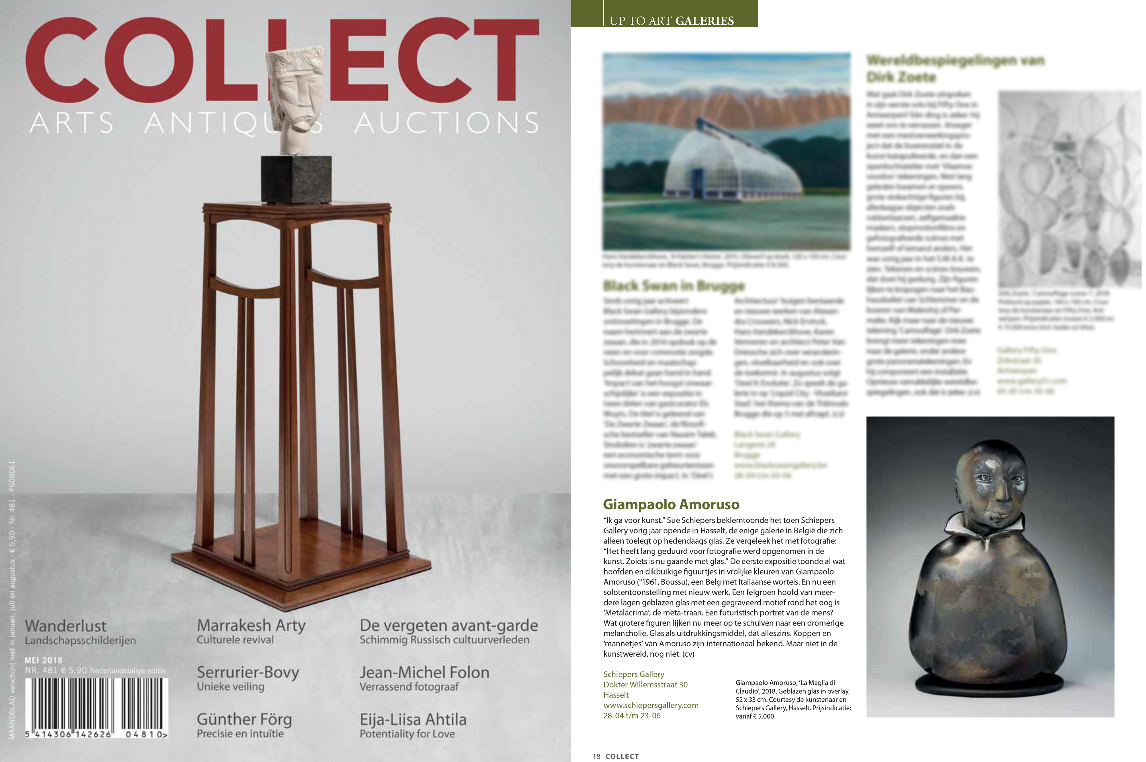 Artikel in 'COLLECT AAA' over Giampaolo Amoruso