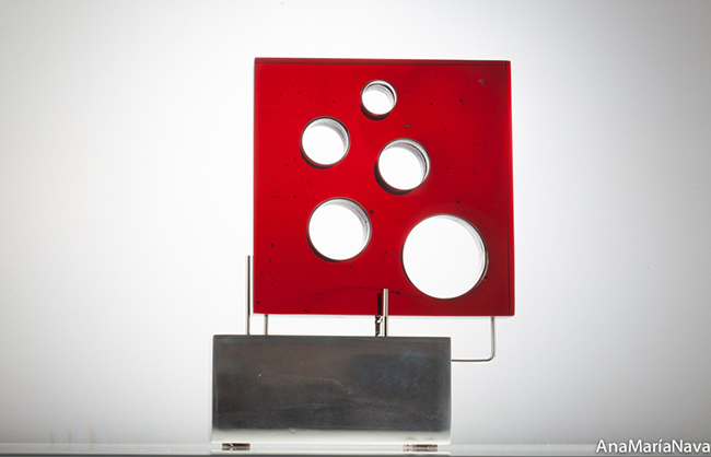 Rosso Red with Round Holes, 2017